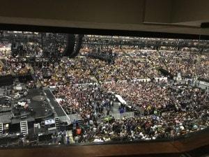 Crowd getting ready