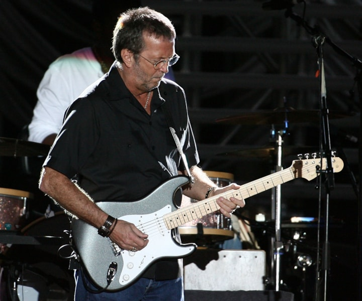 PERTH, AUSTRALIA - FEBRUARY 11:  Eric Clapton performs on stage in concert at Members Equity Stadium on February 11,  2007 in Perth, Australia. The 2007 tour is 16 Grammy award-winning Clapton's third tour in Australia and his first tour in Australia since 1990.