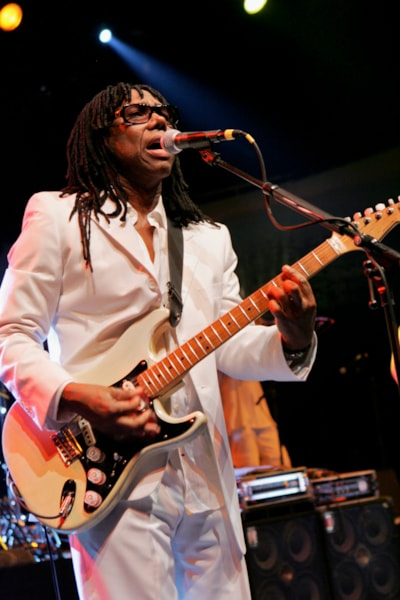 GENEVA - APRIL 17:  Nile Rodgers of Chic performs during the IWC Da Vinci Launch party held at the Geneva Palaexpo on April 17, 2007 in Geneva, Switzerland.
