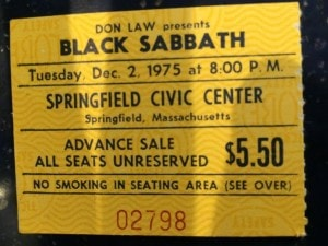 This was my second Sabbath show; the first was in Providence. It was fantastic. Huge fan. Tony Iommi, in my top 5 guitarists.