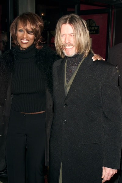 David Bowie & wife, Iman, at the premiere of the movie, 'Hannibal,' at the Ziegfeld Theater, New York City, Monday February 06, 2001. Photo: Nick Elgar