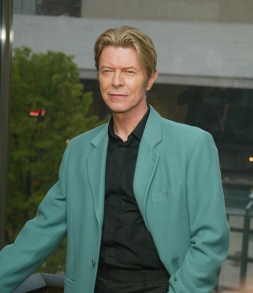 NEW YORK - MAY 5:  (U.S. TABS AND HOLLYWOOD REPORTER OUT) Singer David Bowie stands backstage at The Film Society of Lincoln Center's Tribute to Susan Sarandon at Avery Fisher Hall May 5, 2003 in New York City.  (Photo by Evan Agostini/Getty Images)