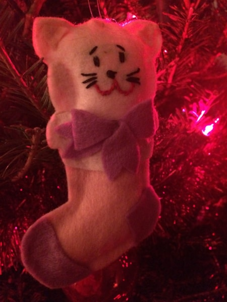Like this kitten in a stocking!