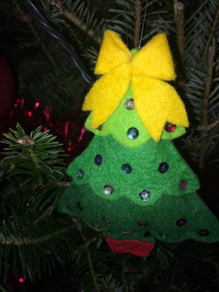 A Christmas tree on a Christmas tree!
