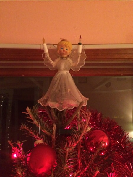 There she is! Watching over another Christmas.