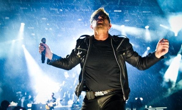 GLASTONBURY, ENGLAND - JUNE 24: Bono of U2 performs live on the pyramid stage during the Glastonbury Festival at Worthy Farm, Pilton on June 24, 2011 in Glastonbury, England.  (Photo by Ian Gavan/Getty Images)