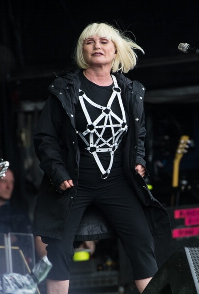 GLASTONBURY, ENGLAND - JUNE 27: Debbie Harry of Blondie performs on The Other Stage during Day 1 of the Glastonbury Festival at Worthy Farm on June 27, 2014 in Glastonbury, England.  (Photo by Ian Gavan/Getty Images)