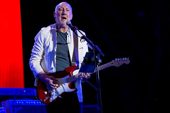 GLASTONBURY, ENGLAND - JUNE 28:  Pete Townshend of The Who performs on the Pyramid Stage at the Glastonbury Festival at Worthy Farm, Pilton on June 28, 2015 in Glastonbury, England.  Now its 45th year the festival is one largest music festivals in the world and this year features headline acts Florence and the Machine, Kanye West and The Who. The Festival, which Michael Eavis started in 1970 when several hundred hippies paid just £1, now attracts more than 175,000 people.  (Photo by Ian Gavan/Getty Images)