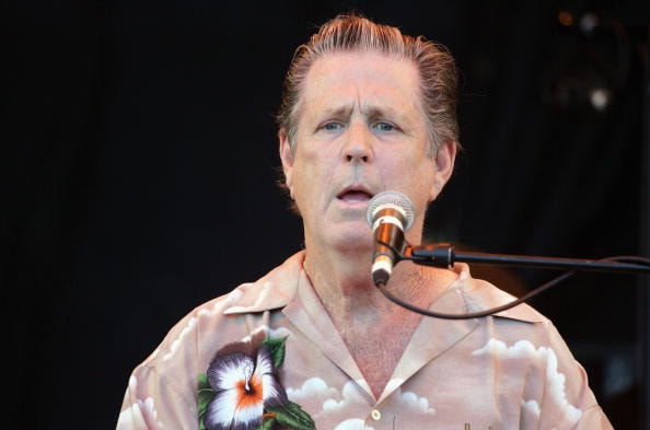 SOMERSET, ENGLAND - JUNE 26: Brian Wilson performs on the third and final day of the Glastonbury Music Festival 2005 at Worthy Farm, Pilton on June 26, 2005 in Somerset, England. (Photo by Matt Cardy/Getty Images)