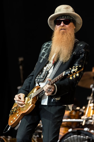 GLASTONBURY, ENGLAND - JUNE 24:  Billy Gibbons of ZZ Top performs on the Pyramid Stage during the Glastonbury Festival at Worthy Farm, Pilton on June 24, 2016 in Glastonbury, England.  Now its 46th year the festival is one largest music festivals in the world and this year features headline acts Muse, Adele and Coldplay. The Festival, which Michael Eavis started in 1970 when several hundred hippies paid just £1, now attracts more than 175,000 people.  (Photo by Ian Gavan/Getty Images)