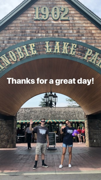 "What a perfect day at Canobie Lake Park. Lucy and I had such an awesome time playing games, riding rides and grabbing lunch. We started at the carousel, which is definitely my speed. Then we headed to the Rowdy Roosters, where we ""took flight"". (Yes, I was a little scared.) The BEST part of the…"