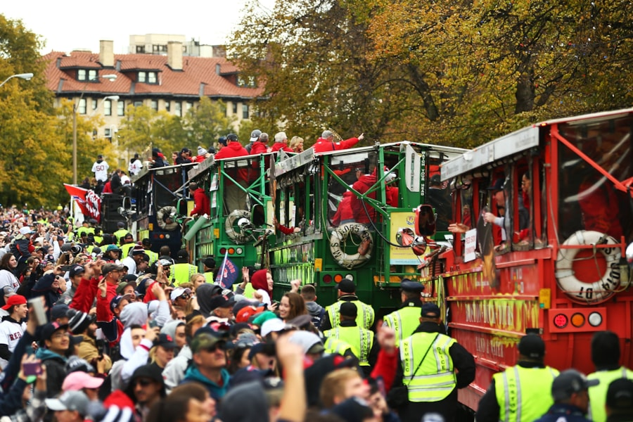BOSTON, MA - OCTOBER 31:  A general view during the 2018 Boston Red Sox World Series victory parade on October 31, 2018 in Boston, Massachusetts. (Photo by Adam Glanzman/Getty Images)