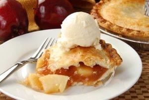Apple Pie Slice with Ice Cream