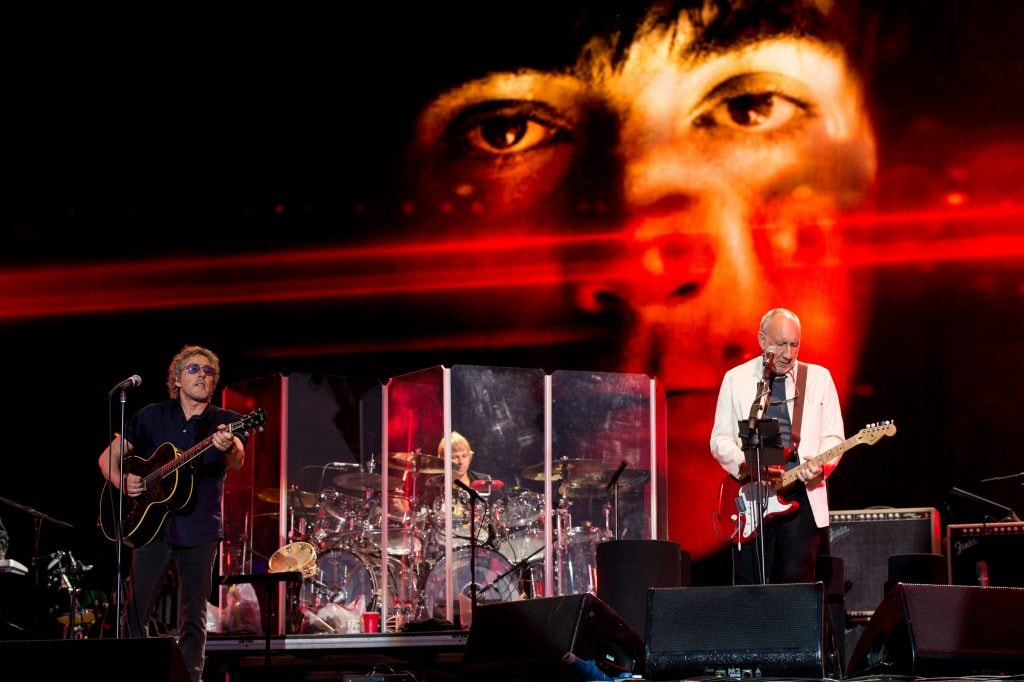 Roger Daltry and Pete Townshend of The Who at the Glastonbury Festival at Worthy Farm, Pilton in June  of 2015. Classic Rockers   (Photo by Ian Gavan/Getty Images)