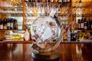 crystal ship wine decanter